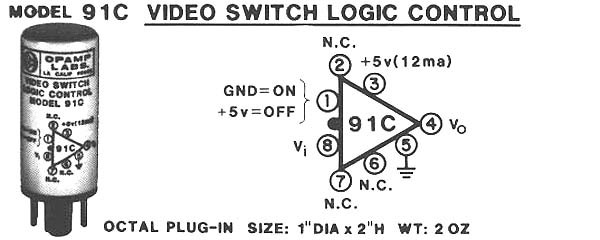 Model 91C +5V Video Switch Logic Control