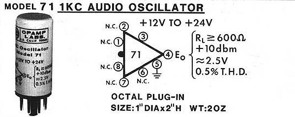 Model 71 1KCy Audio Oscillator