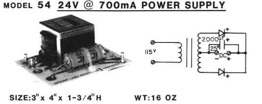 Model 54 Power Supply